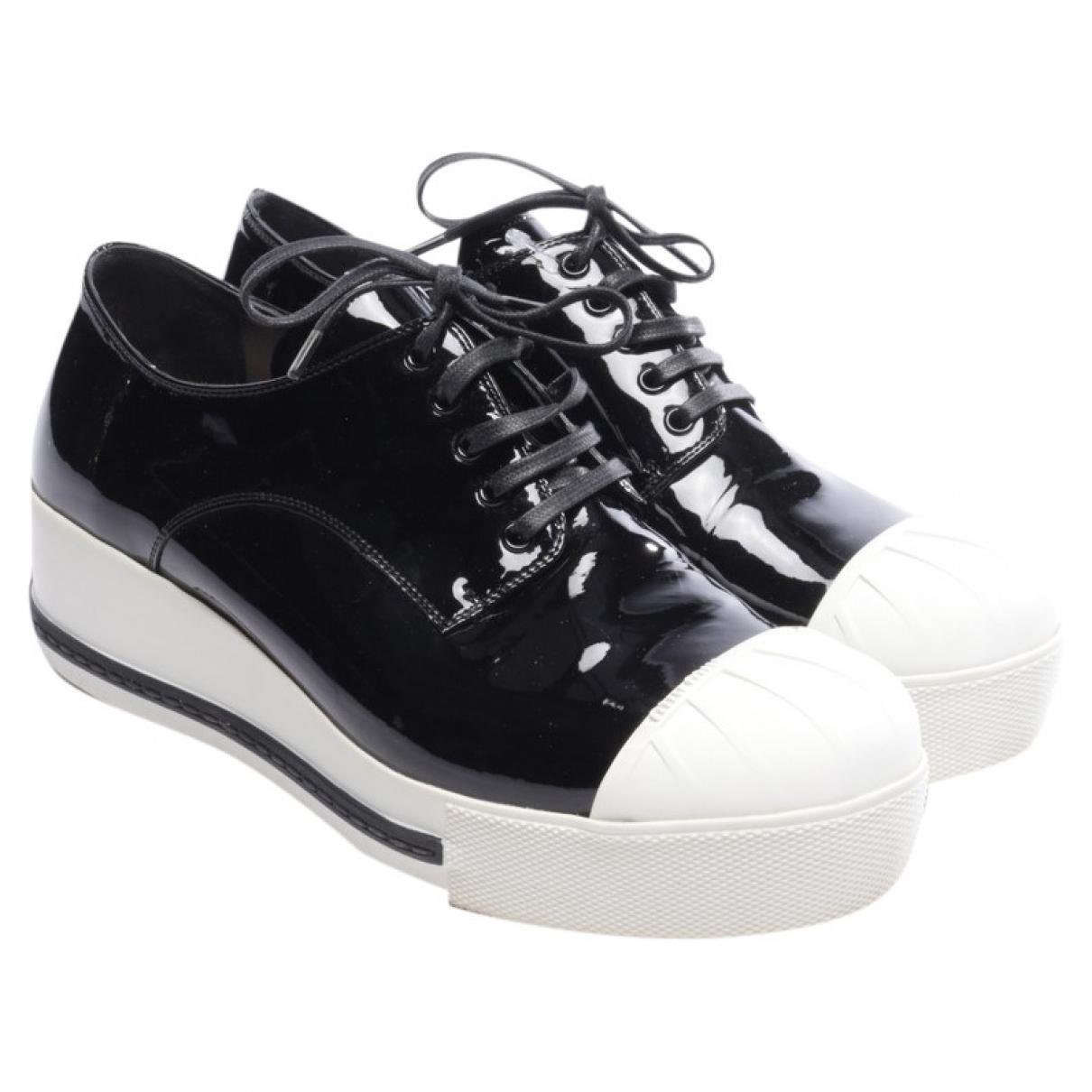 Miu Miu \N Black Patent leather Trainers for Women 37.5 EU