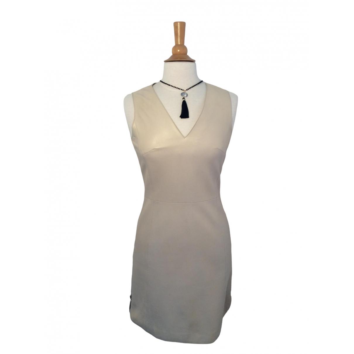 Zapa - Robe   pour femme en cuir - beige