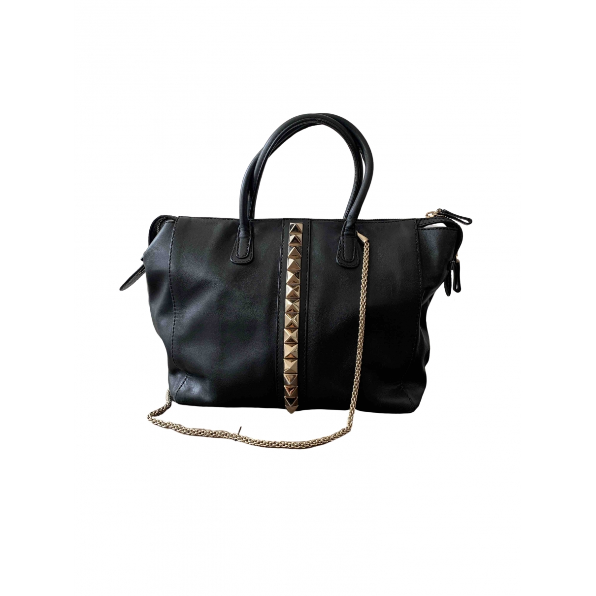 Valentino Garavani \N Black Leather handbag for Women \N