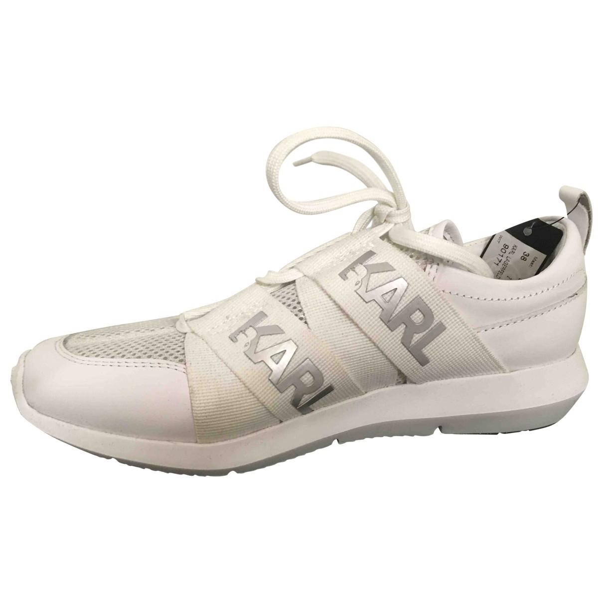 Karl - Baskets   pour femme en cuir - blanc