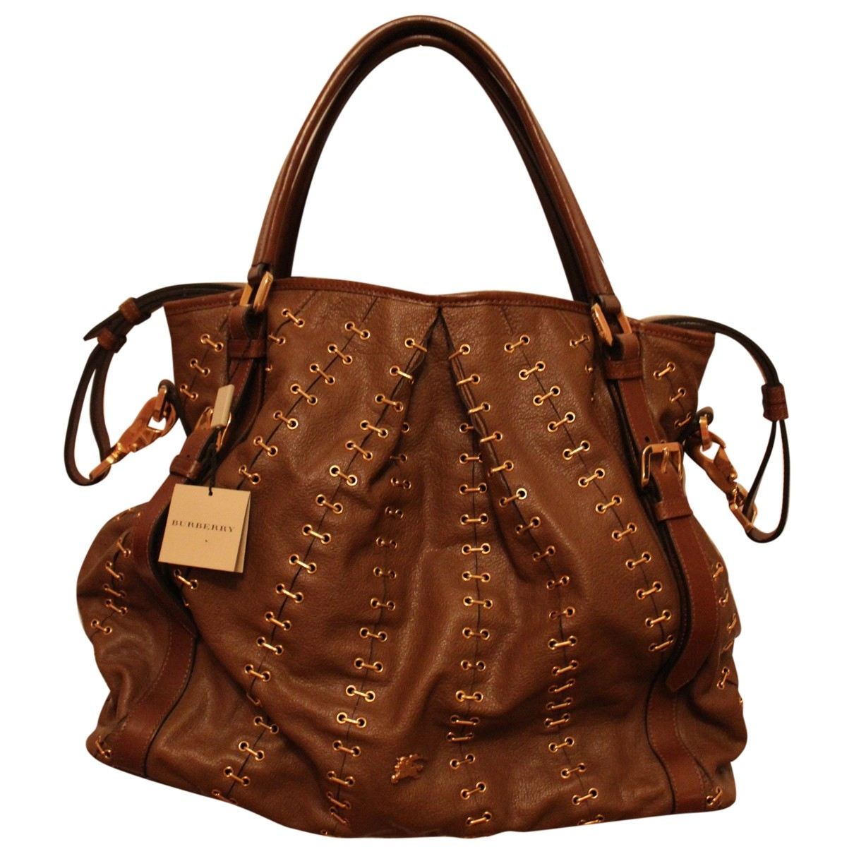 Burberry \N Brown Leather Travel bag for Women \N