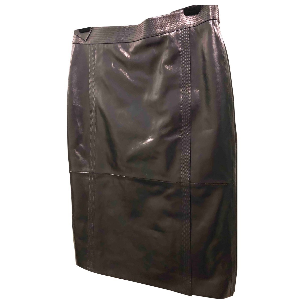 Givenchy \N Black Leather skirt for Women 44 IT
