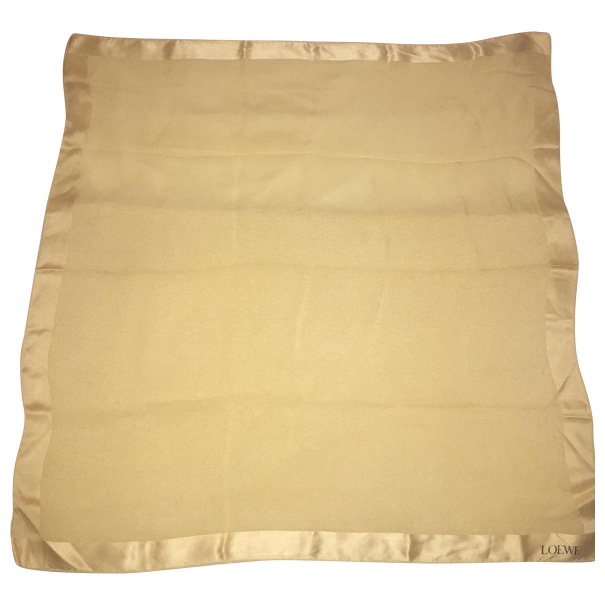 Loewe \N Gold Silk scarf for Women \N