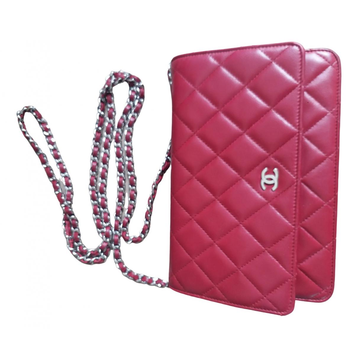 Chanel Wallet on Chain Handtasche in  Bordeauxrot Leder