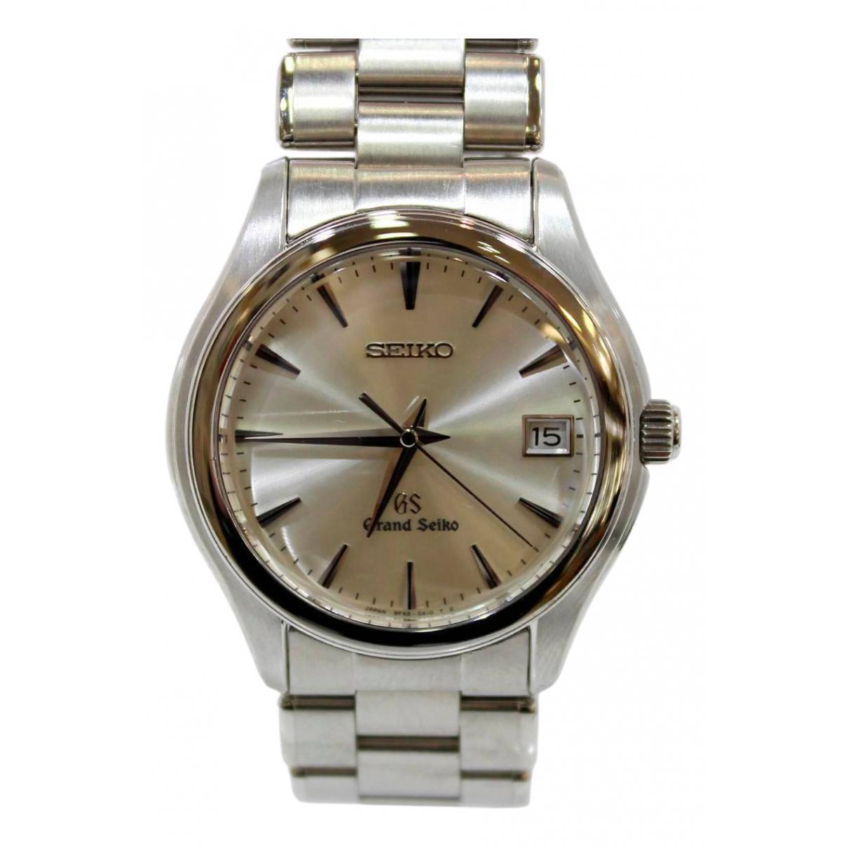 Seiko \N Uhr in  Silber Stahl