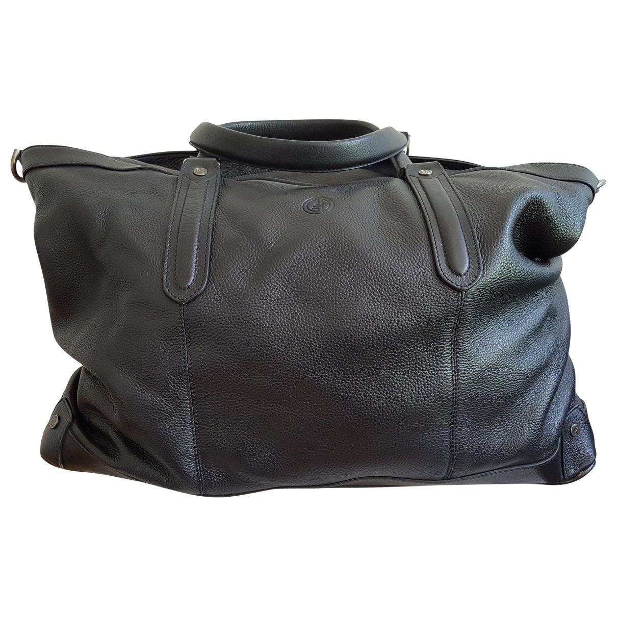 Giorgio Armani \N Taschen in  Schwarz Leder