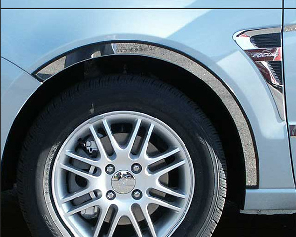 Quality Automotive Accessories 4-Piece Stainless Steel Wheel Well Fender Trim Kit Ford Focus 2011