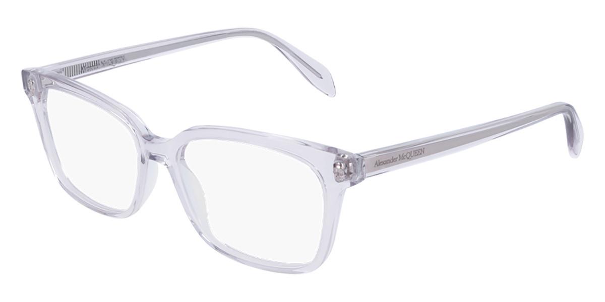 Alexander McQueen AM0243O 005 Women's Glasses Violet Size 52 - Free Lenses - HSA/FSA Insurance - Blue Light Block Available