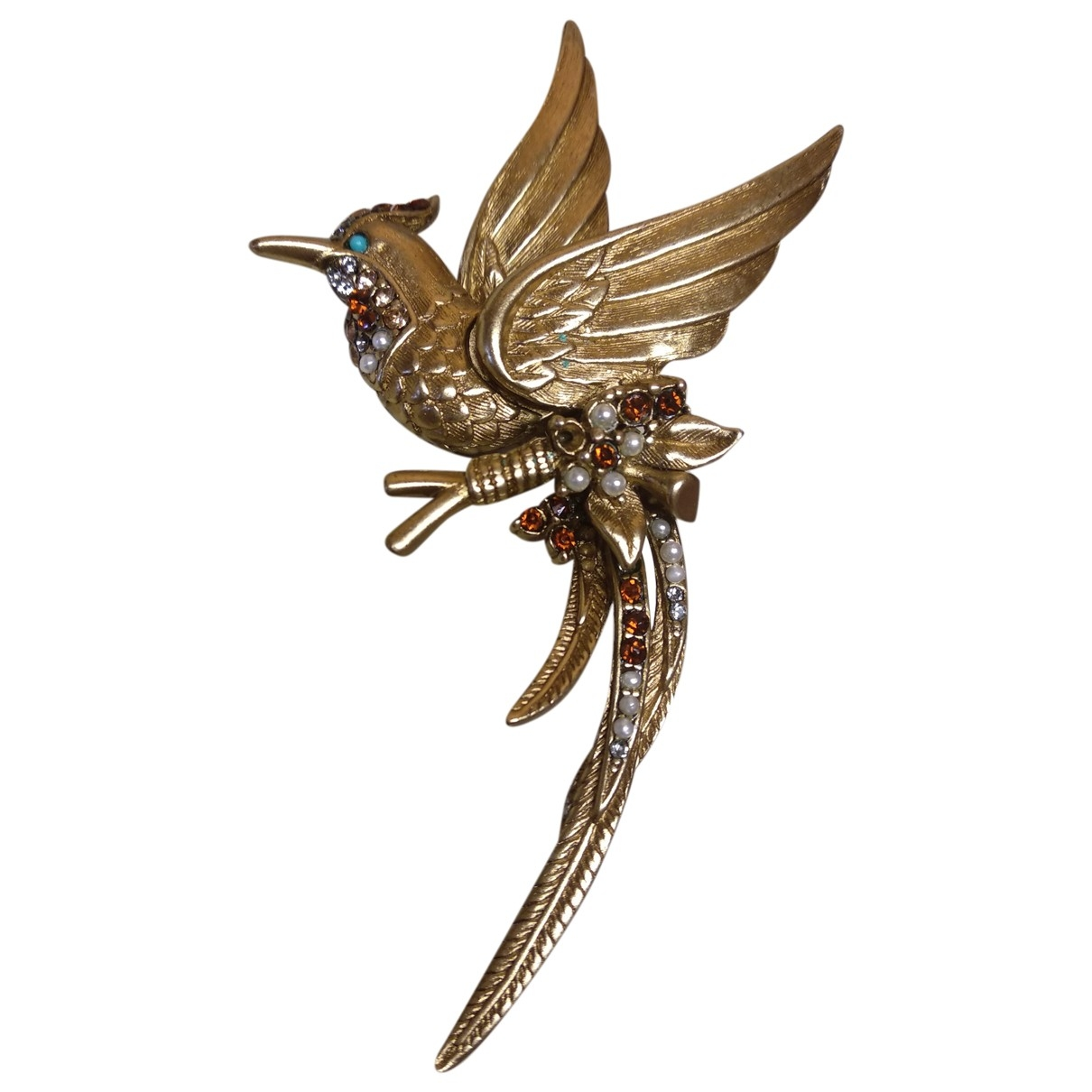 Non Signé / Unsigned Motifs Animaliers Gold Gold plated Pins & brooches for Women \N