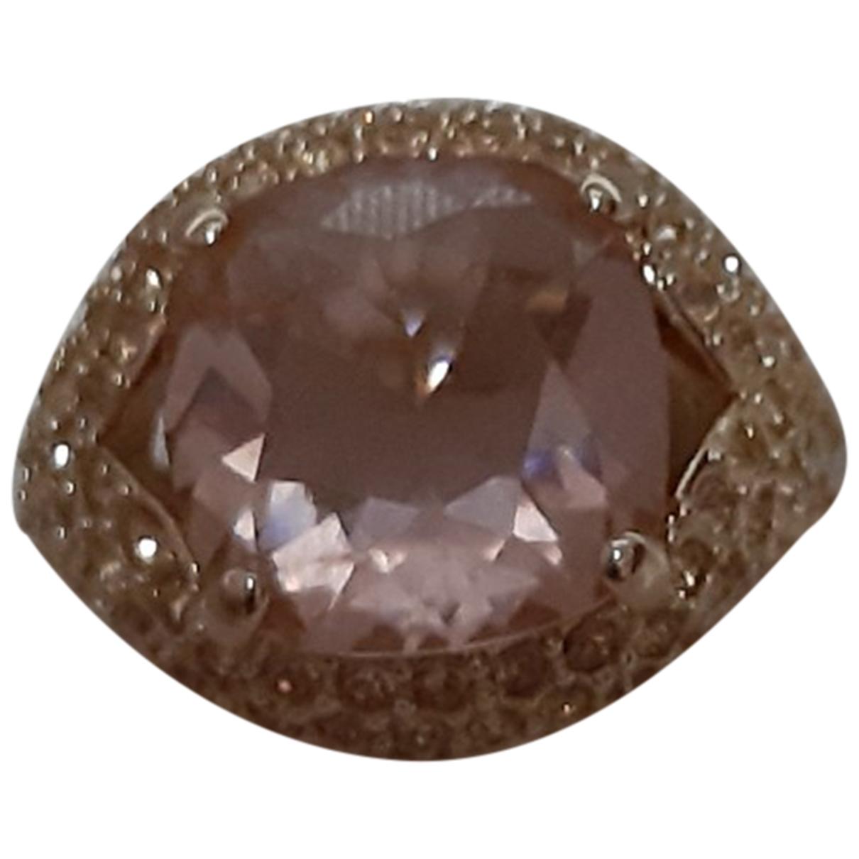 Swarovski \N Ring in  Gold Kristall