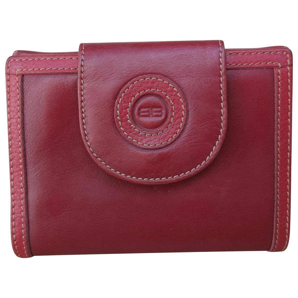Balenciaga \N Portemonnaie in  Rot Leder