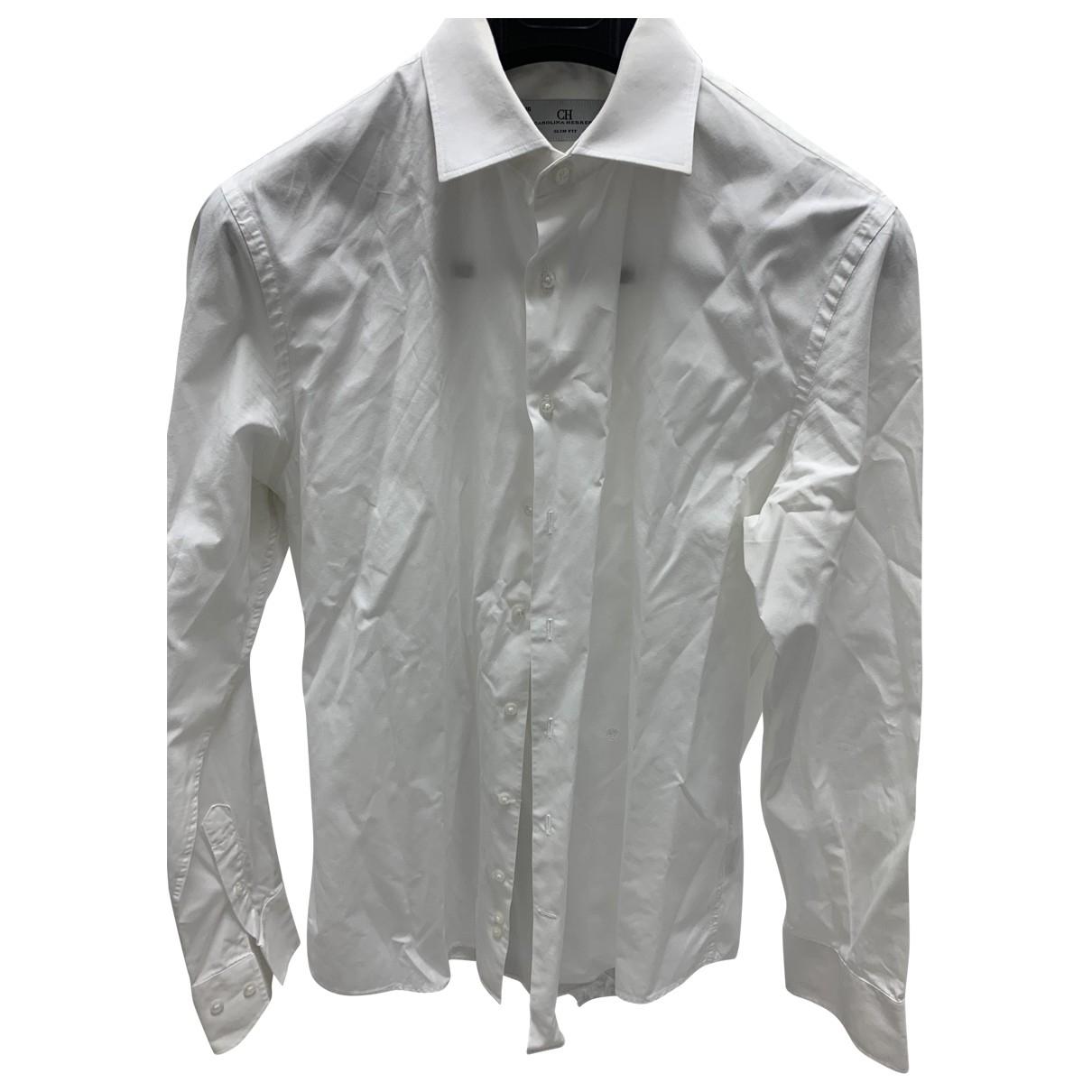 Carolina Herrera - Chemises   pour homme en coton - blanc