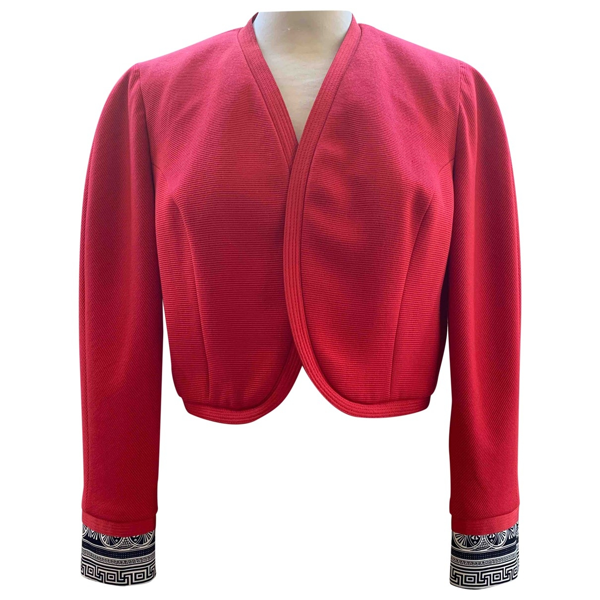 Gianni Versace \N Jacke in  Rot Wolle