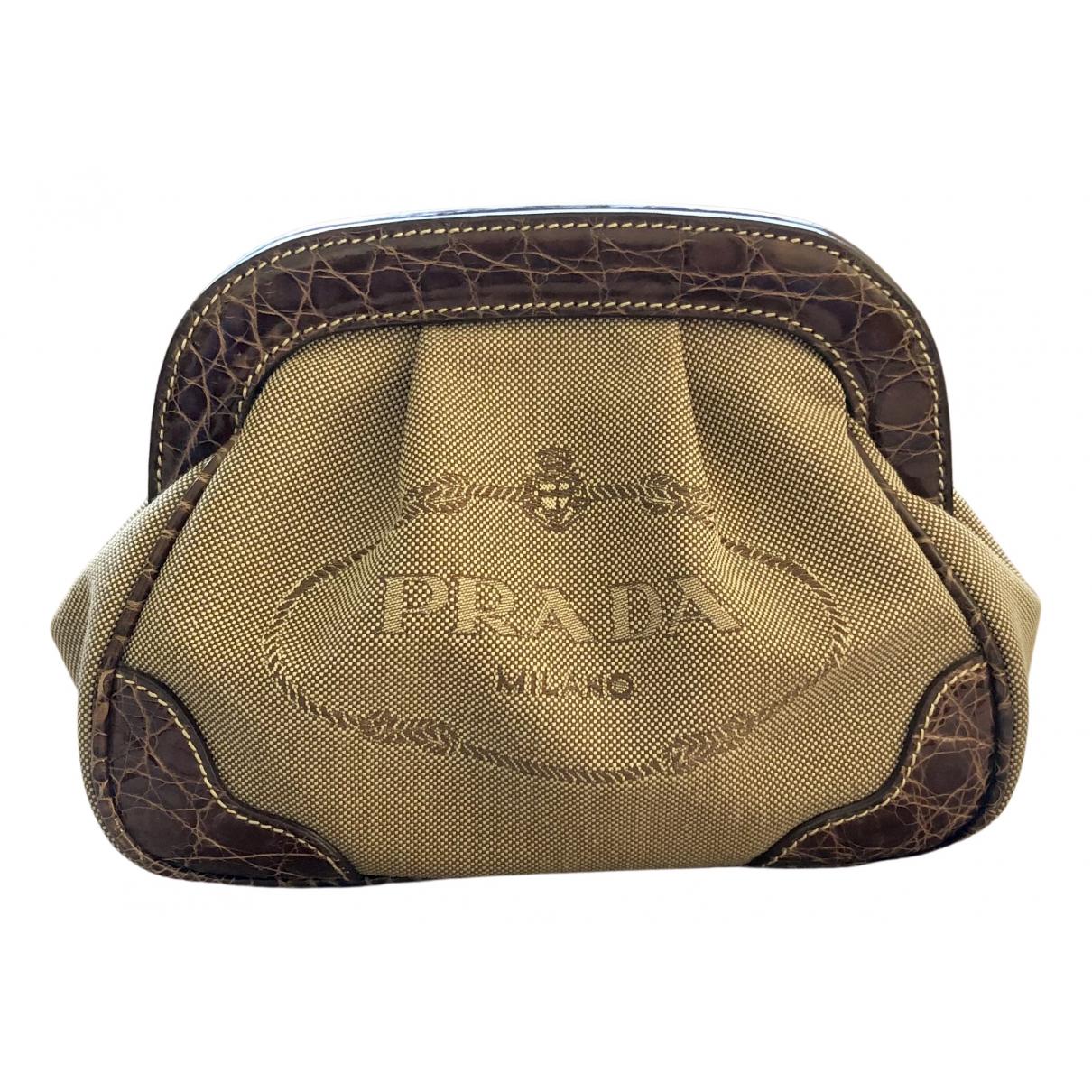 Prada N Beige Cloth Clutch bag for Women N