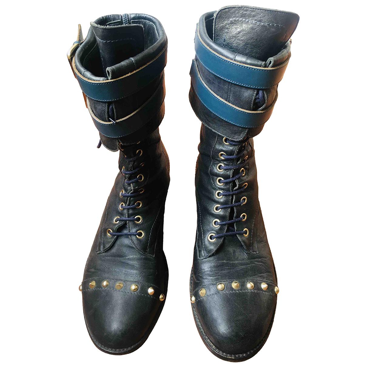 Patrizia Pepe \N Stiefel in  Blau Leder