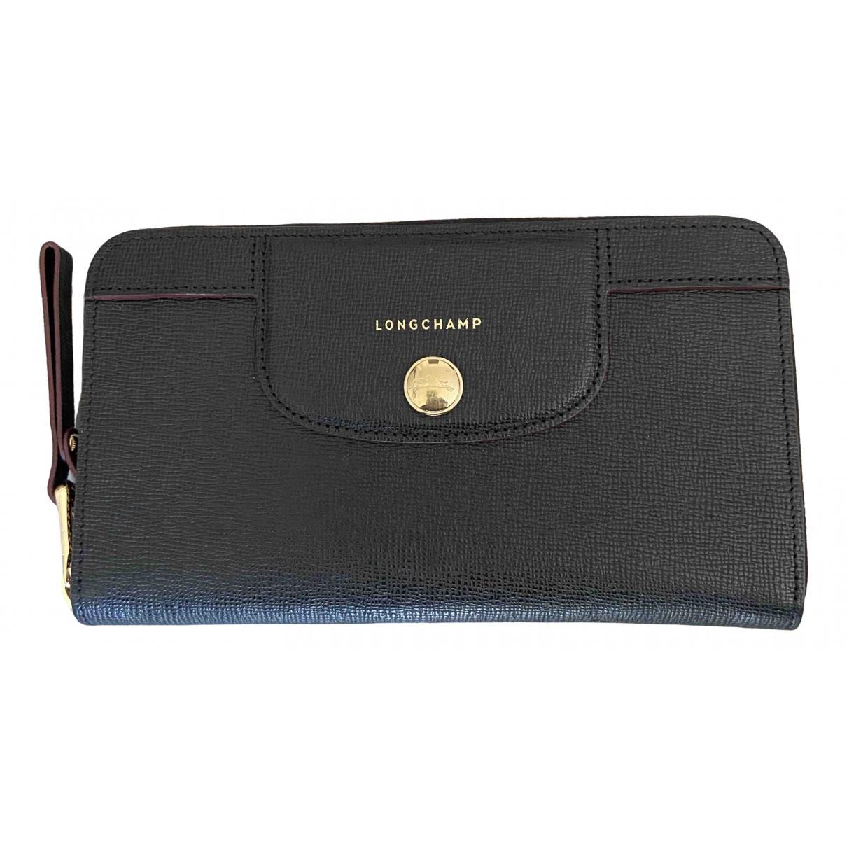 Longchamp \N Black Leather wallet for Women \N