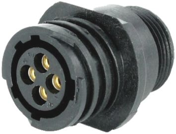 Toughcon Connector, 4 contacts Cable Mount Socket, Crimp IP44, IP65