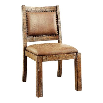 BM131347 Colette Industrial Side Chair In Brown  Set Of