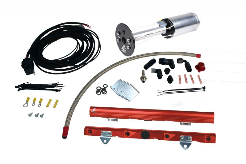 Aeromotive 17178 Fuel System System, C6 Corvette, 18670 A1000, 14142 LS-7 Rails, 16307 Wire Kit and; Fittings