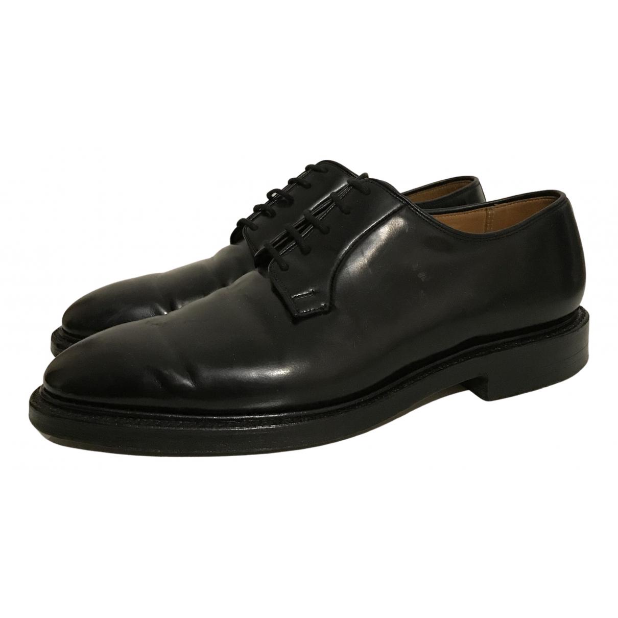 Crockett& Jones - Derbies   pour homme en cuir - noir