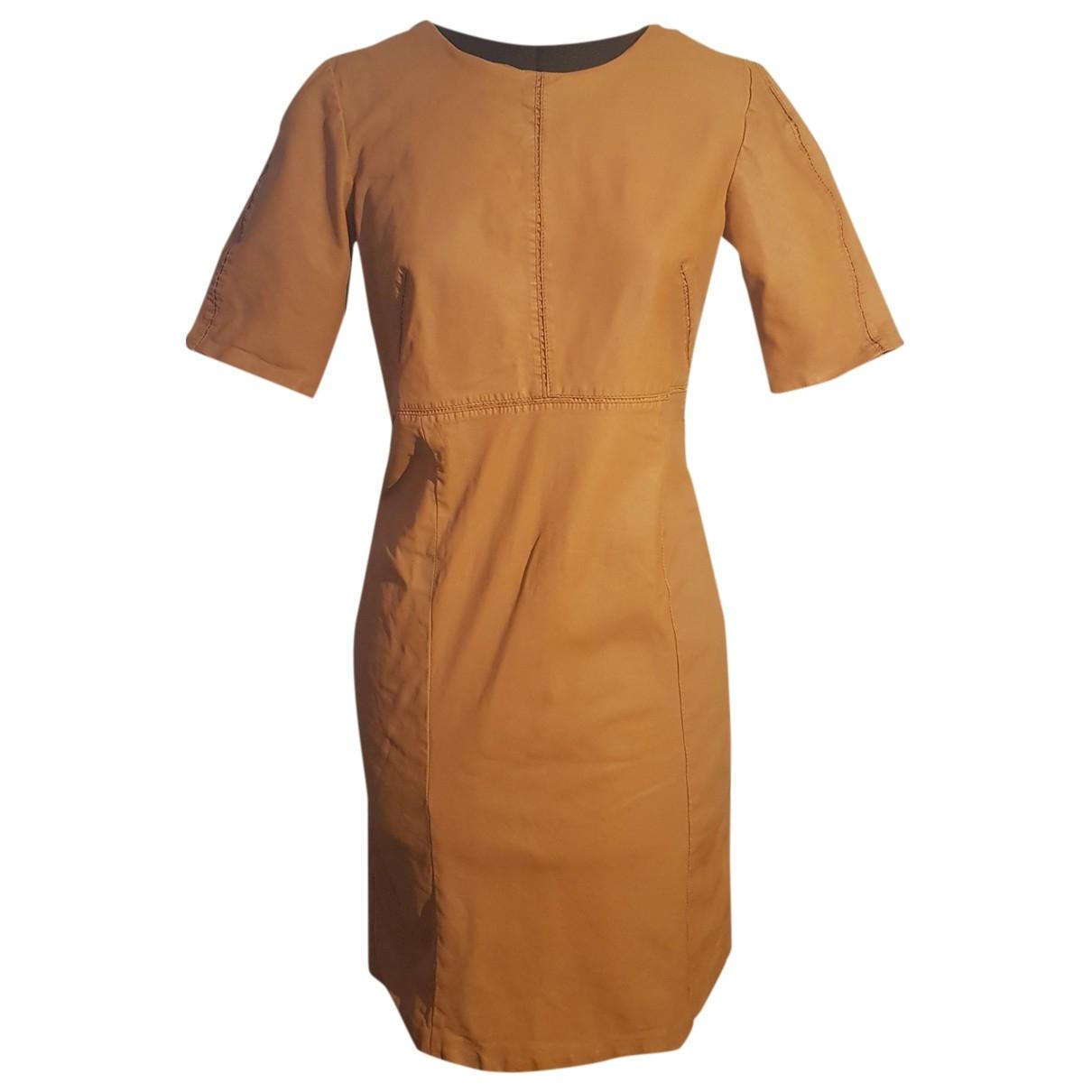 Stills Atelier \N Kleid in  Kamel Leder