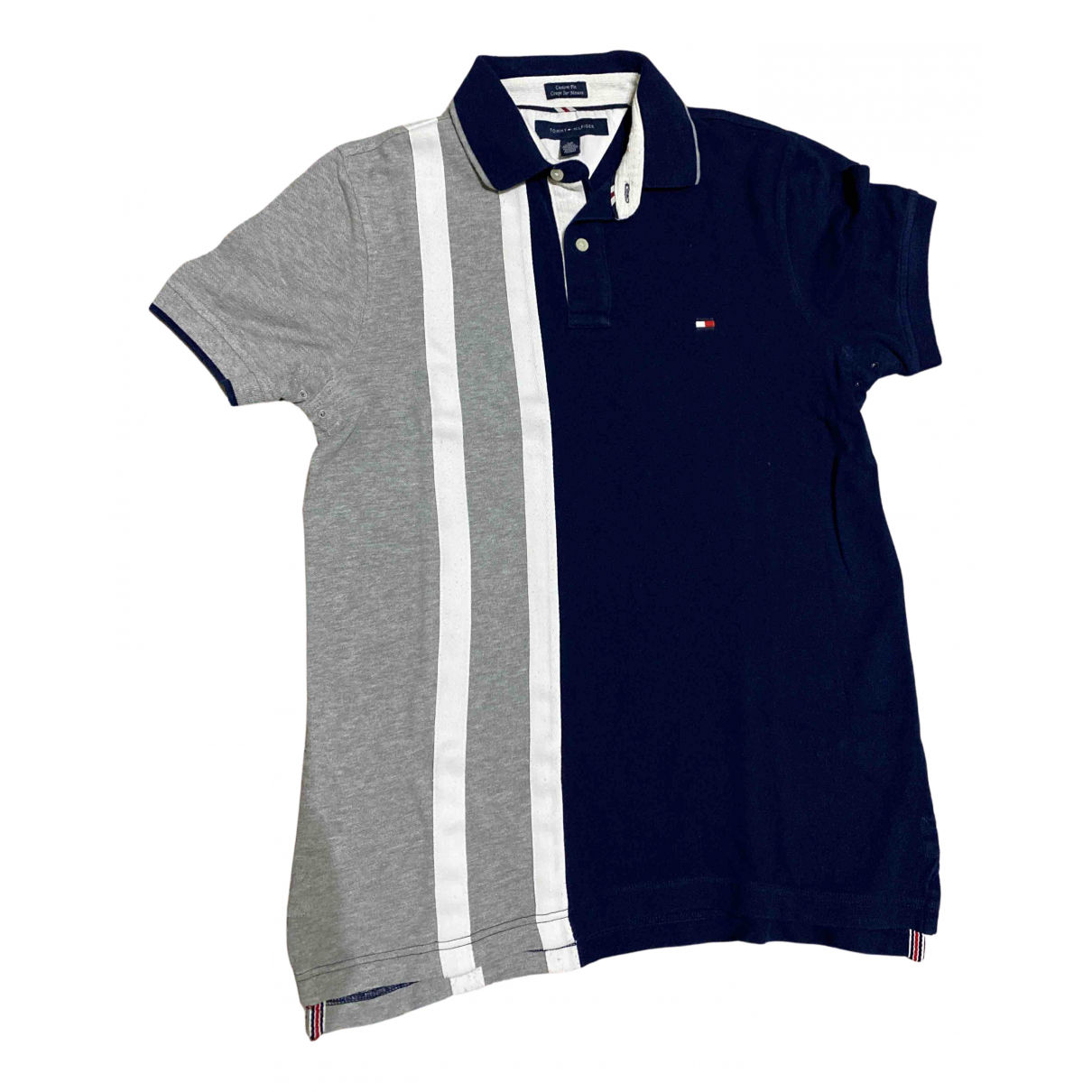 Tommy Hilfiger - Polos   pour homme en coton - bleu