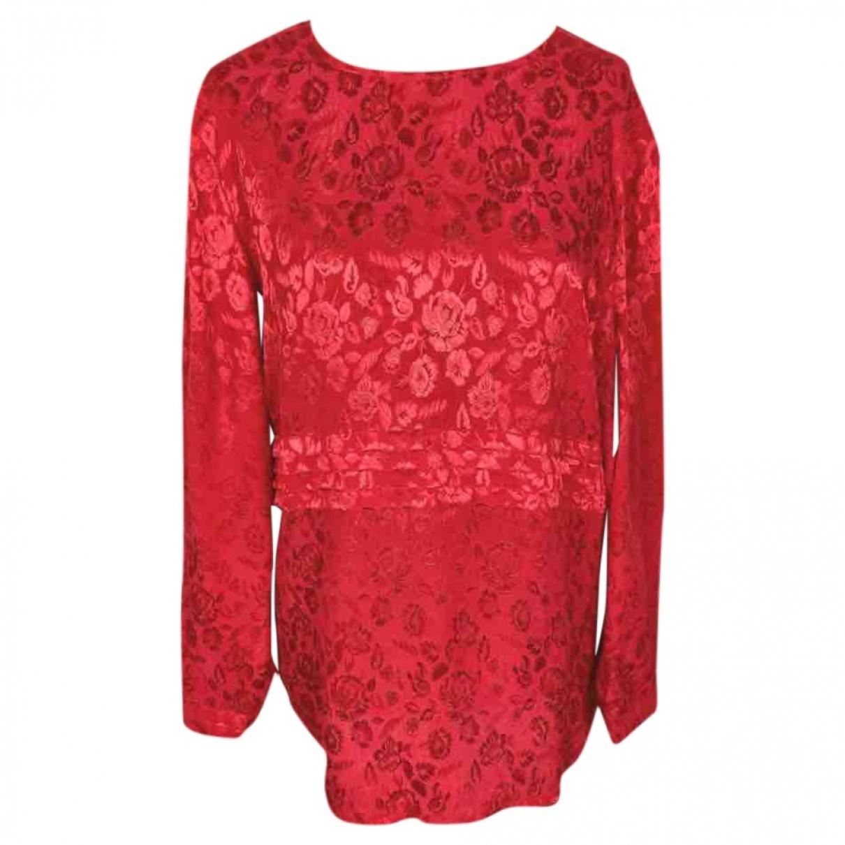 Valentino Garavani - Top   pour femme en soie - rouge