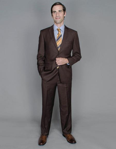 Men's Single Breasted Wool and Silk Blend Giorgio Fiorelli Brand suits
