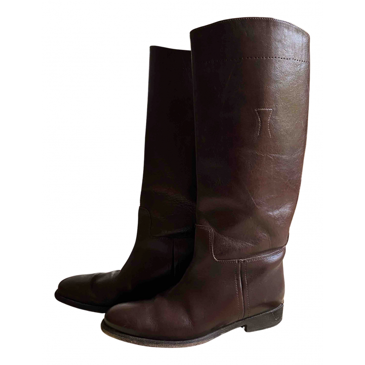 Burberry \N Stiefel in  Braun Leder