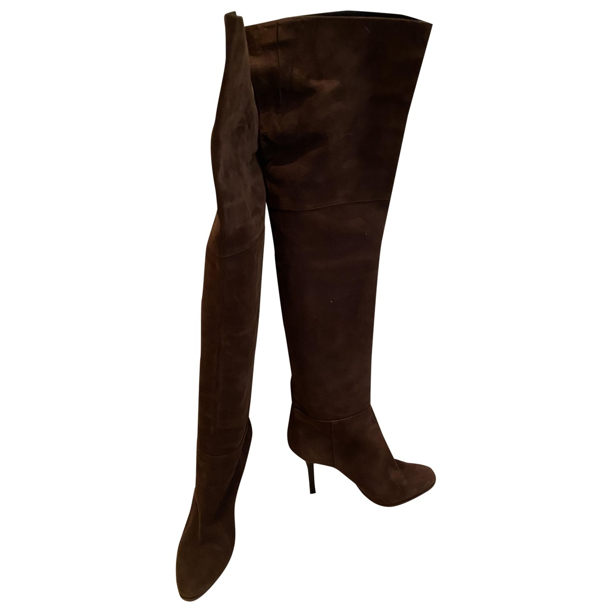 Jimmy Choo \N Brown Suede Boots for Women 36.5 EU