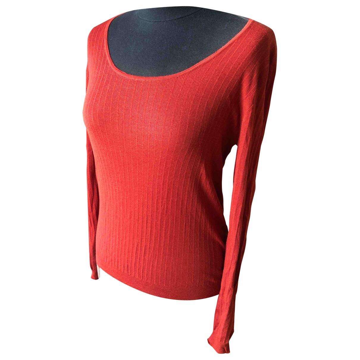 Hermes - Pull   pour femme en laine - orange