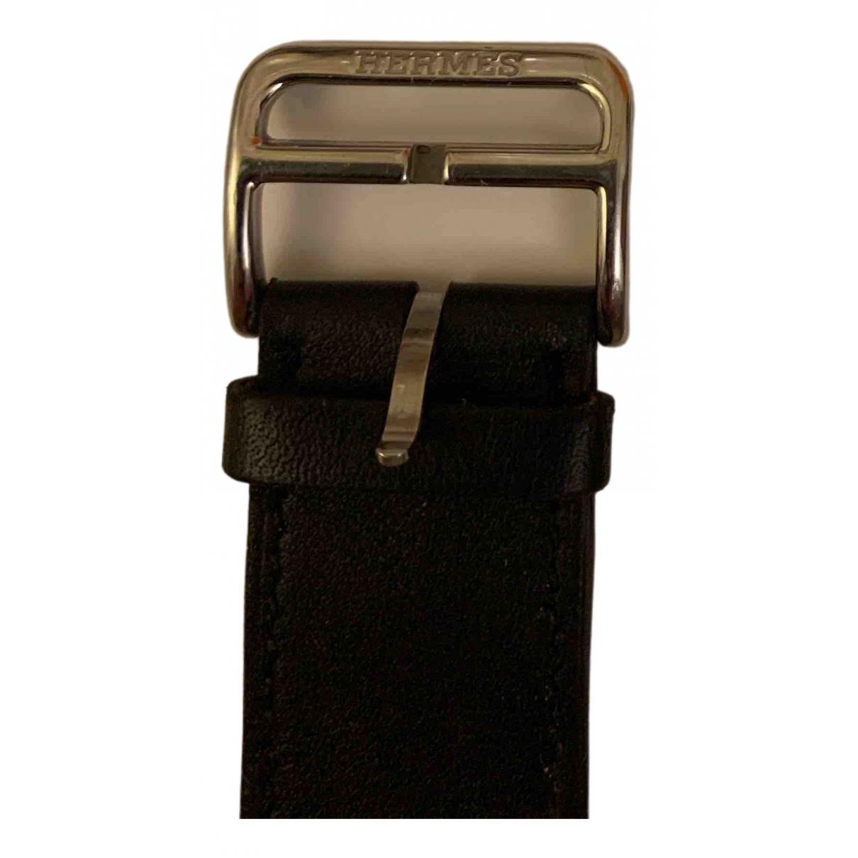 Hermes Apple Watch x Hermes 42mm Uhr in  Marine Leder