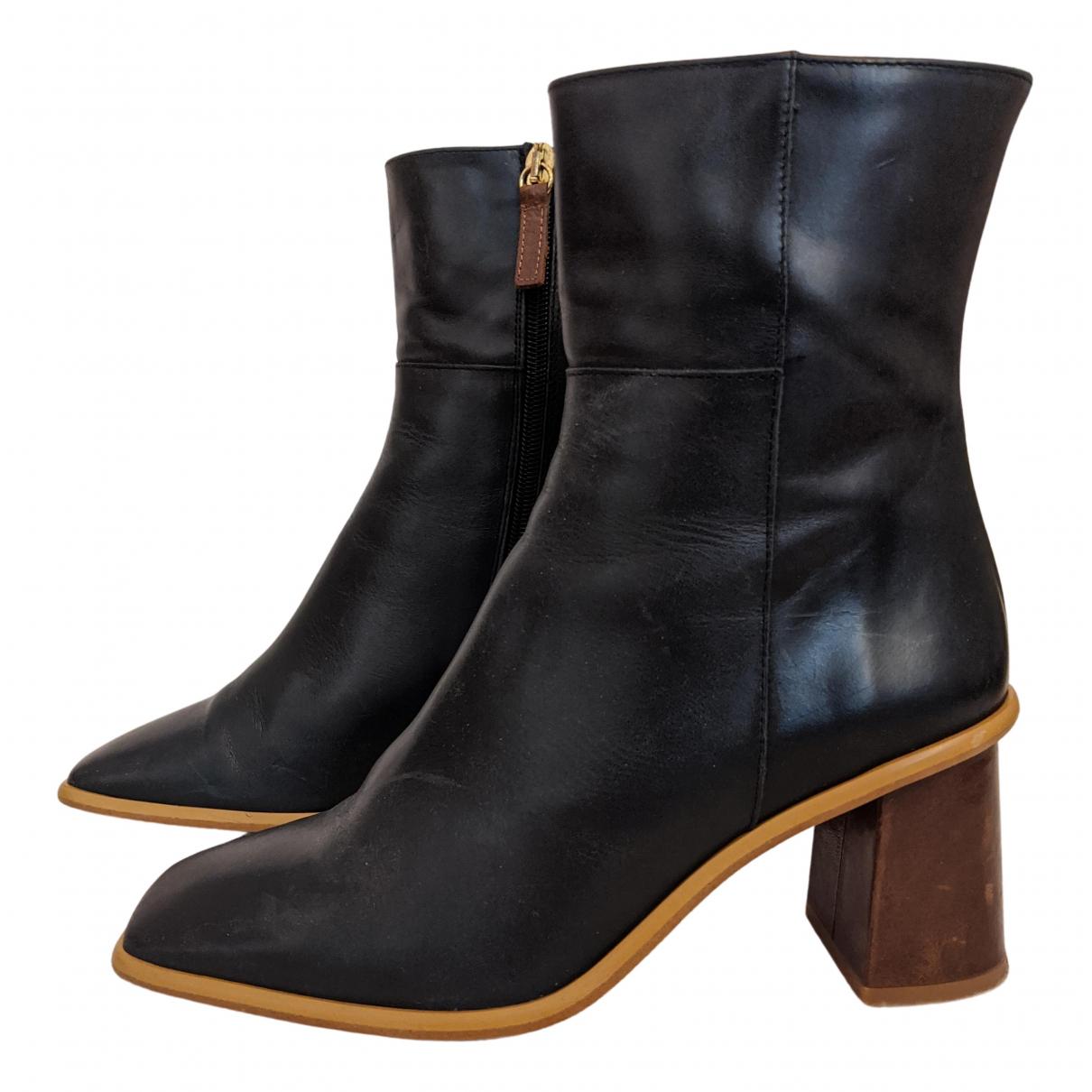 Alohas - Bottes   pour femme en cuir - noir
