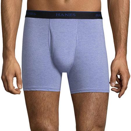 Hanes Men's Comfortblend 4 + 1 Bonus Pair Boxer Briefs, Large , Black