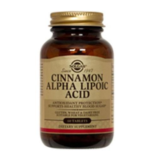 Cinnamon Alpha Lipoic Acid Tablets 60 Tabs by Solgar