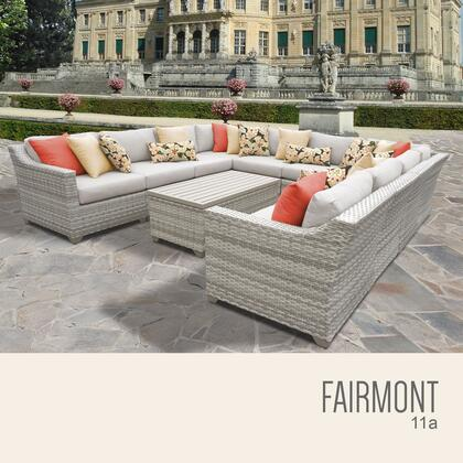 FAIRMONT-11a Fairmont 11 Piece Outdoor Wicker Patio Furniture Set 11a with 1 Cover in