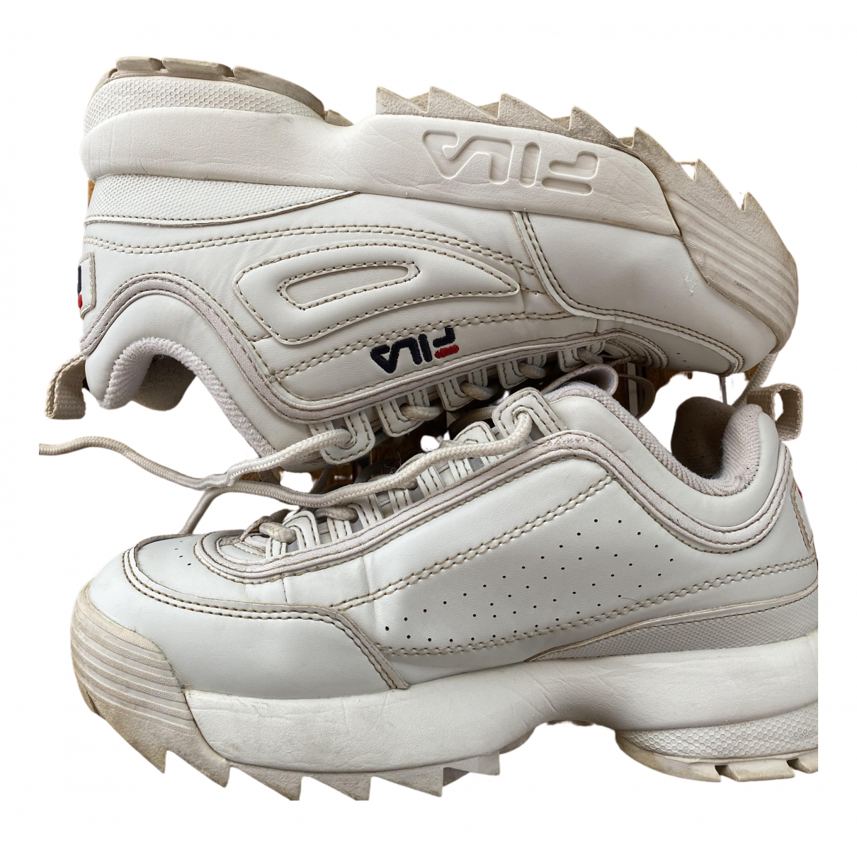Fila \N Sneakers in  Beige Leder