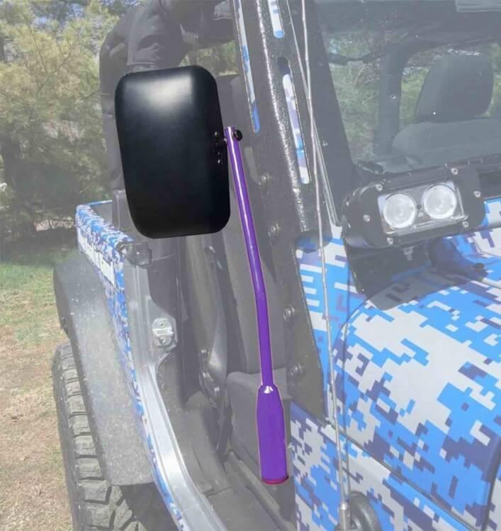 Steinjager J0043572 Mirror Wrangler JK 2007-2018 Door Hinge Mounted Poly Isolated Sinbad Purple