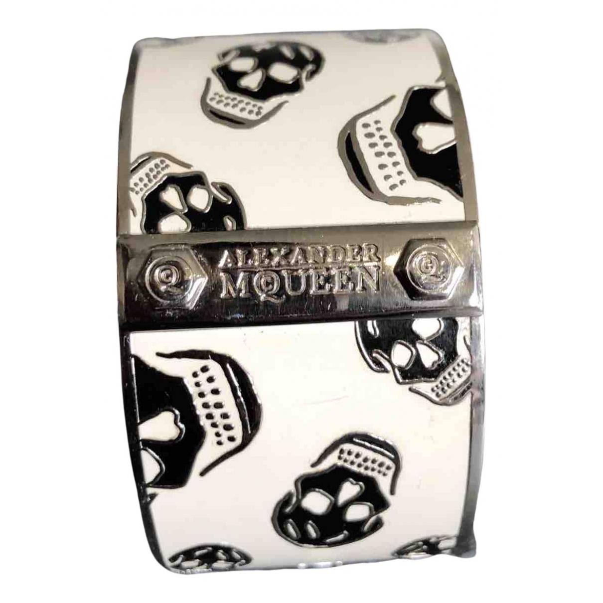 Alexander Mcqueen - Bracelet   pour femme en metal - blanc