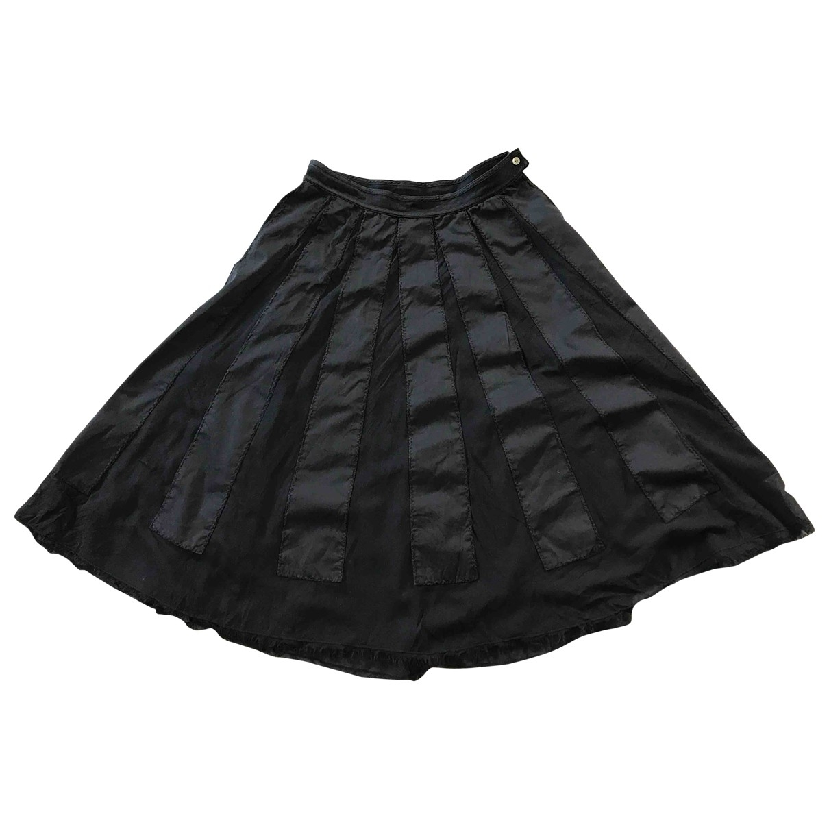 Non Signé / Unsigned \N Grey Cotton skirt for Women 42 IT