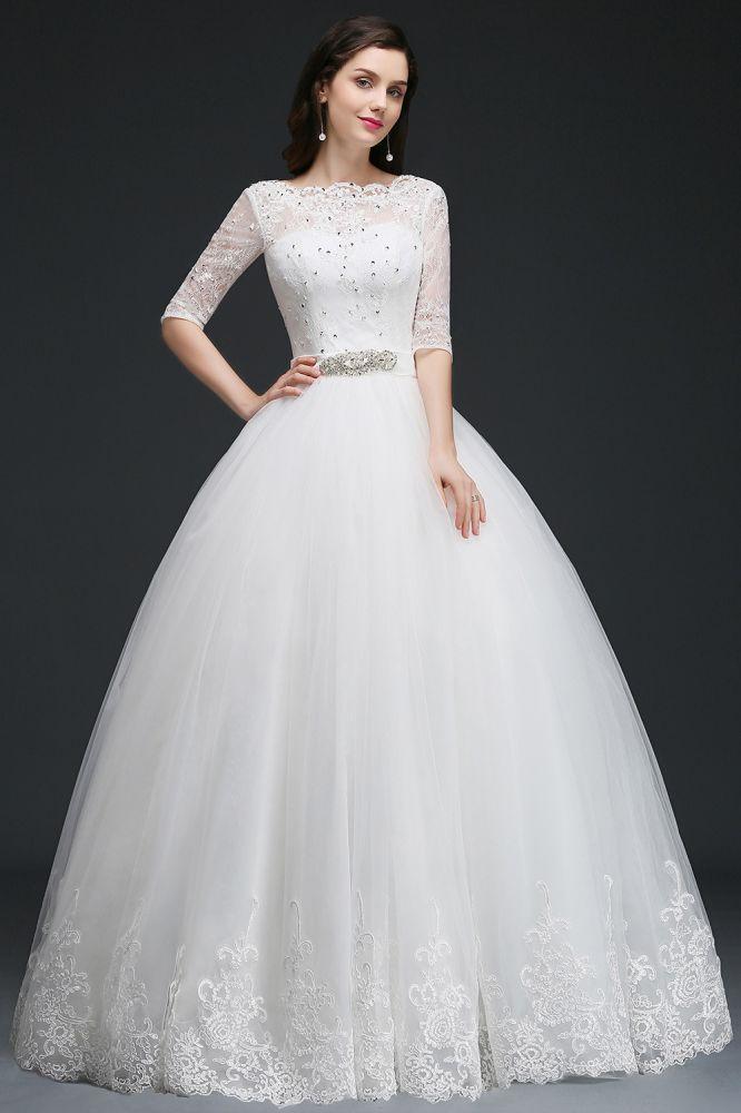 AMERIQUE | Robe de bal etage longueur robes de mariee glamour en tulle avec de la dentelle