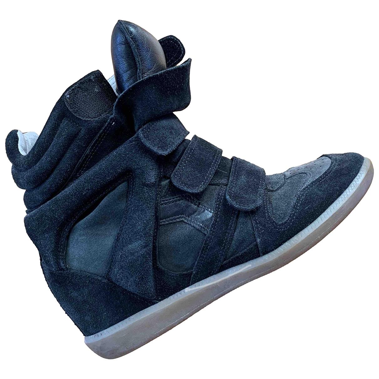 Isabel Marant Beckett Sneakers in  Schwarz Leder