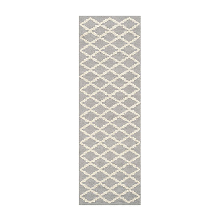Safavieh Blake Geometric Hand-Tufted Wool Rug, One Size , Silver