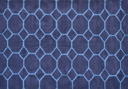 PA0101D 5 x 7 ft. Honeycomb Area Rug  in Dark Blue and Light