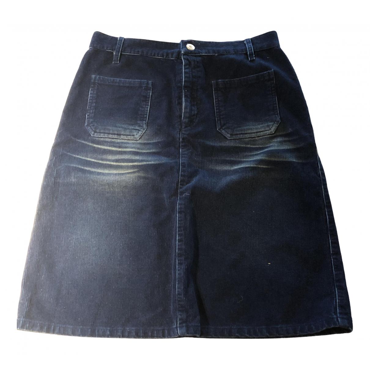 See By Chloe - Jupe   pour femme en coton - elasthane - bleu
