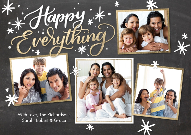 Christmas Photo Cards 5x7 Cards, Premium Cardstock 120lb with Rounded Corners, Card & Stationery -Holiday Happy Everything by Tumbalina