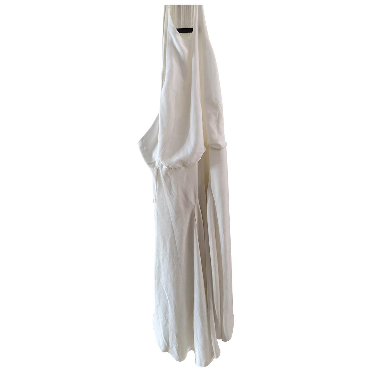 Halston \N Kleid in  Weiss Polyester