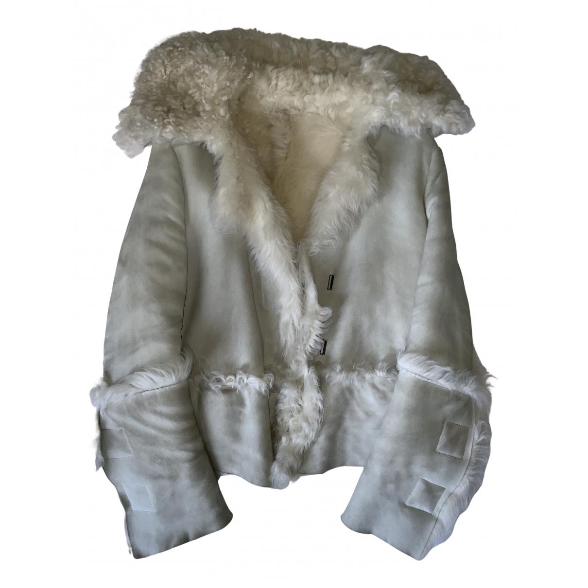 Gucci - Manteau   pour femme en suede - blanc