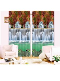 Beautiful Waterfall Living Room&Bedroom 3D Blackout Curtain
