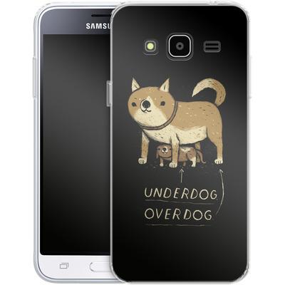 Samsung Galaxy J3 (2016) Silikon Handyhuelle - Underdog Overdog von Louis Ros